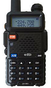 BTECH UV-5×3 Watt Tri-band Radio