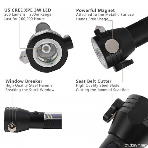 NPET T09 Solar Flashlight features